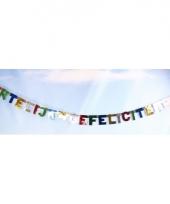 Gekleurde letterslinger hartelijk gefeliciteerd