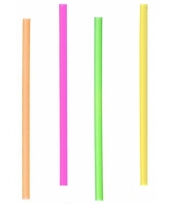 Gekleurde rietjes 12 5 cm 400 stuks