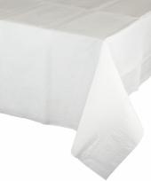Gekleurde tafellaken wit