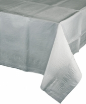 Gekleurde tafellaken zilver grijs