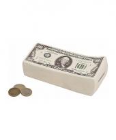 Geld spaarpot dollar biljetten