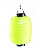 Gele chinese lampion op zonne energie
