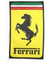 Gele garage vlag ferrari
