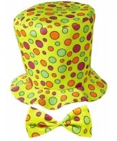 Gele hoge hoed voor volwassenen