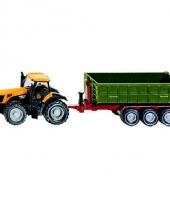 Gele jcb speel tractor met aananger