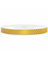 Gele kadolinten met witte stippen 6 mm