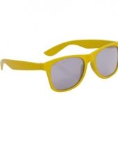 Gele kinder feest en zonnebril wayfarer