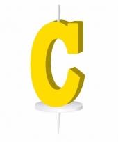 Gele letter kaars c