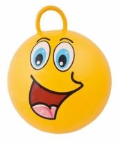 Gele skippybal met gezicht 45cm