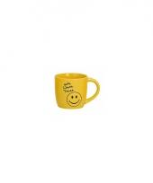 Gele theebeker met smiley type 2