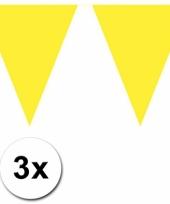 Gele vlaggetjeslijnen 30 meter