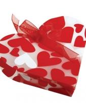 Geschenkzakje met hartjes 4 stuks