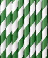 Gestreepte rietjes groen wit