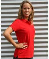 Getailleerde rood dames polo