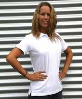 Getailleerde witte dames polo