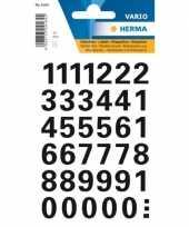 Getallen stickervel met cijfer stickers 1 vel
