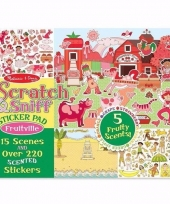 Geurende stickers fruit 220 stuks