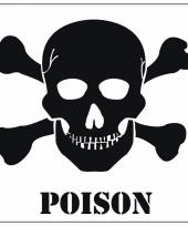Gevaarsymbool poison giftig sticker 10 5 cm