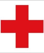 Gevelvlaggen rode kruis