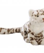 Gevlekte sneeuwpanter knuffel 26 cm