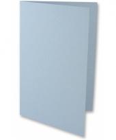 Gevouwen kaarten lichtblauw 5 stuks