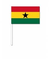 Ghana zwaai vlaggetjes 12 x 24 cm