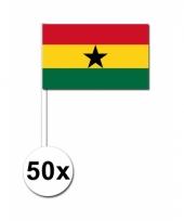Ghana zwaai vlaggetjes 50 stuks