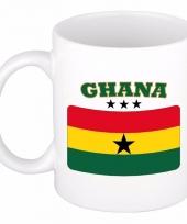 Ghanese vlag koffiebeker 300 ml