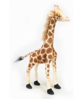 Giraffe knuffel met kraalogen 27 cm
