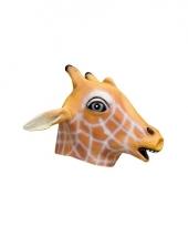 Giraffe kop masker van rubber