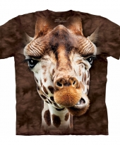 Giraffe shirt the mountain volwassenen