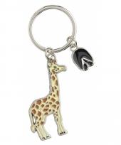 Giraffe sleutel hangertje 5 cm