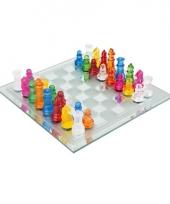 Glazen schaakspel 33 delig