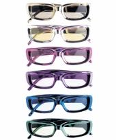 Glimmende bril rechthoekig
