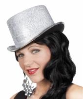 Glimmende zilveren hoge hoed