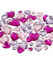 Glinster steentjes assorti paars hart