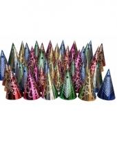 Glitter feesthoedjes pakket 50 stuks