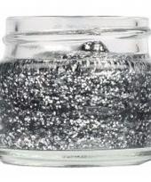 Glitter gel in de kleur zilver