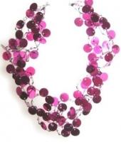 Glitter ketting roze pailletten