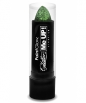 Glitter lippenstift groen