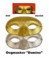 Glitter oogmasker in goud of zilverkleur
