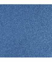 Glitter papier blauw vel
