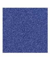 Glitter papier donkerblauw vel