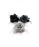 Glitter roos grijs kleuren voor in het haar