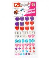 Glitter steentjes stickers