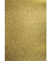 Glitterend hobby karton goud