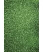 Glitterend hobby karton groen