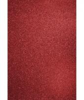Glitterend hobby karton rood