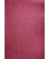 Glitterend hobby karton roze