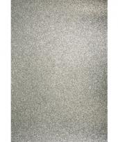 Glitterend hobby karton zilver